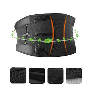 Бандаж для попереку і спини AOLIKES HY-7981 M Black комфортний стягуючий