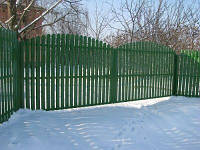 Ворота и калитки из металлического штакетника