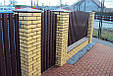 Ворота и Калитки из металлического штакетника: изготовление, доставка, установка, фото 2