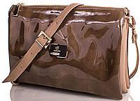 Блестящая сумочка-клатч женская Europe Mob, em3-003, коричневая