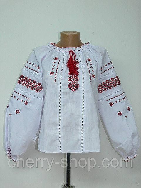 Этничная дитяча блуза вишиванка , зростання 134-170, дитяча блуза з вишивкою у хрестик