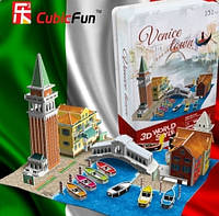 Конструктор 3d CUBICFUN Италия, Венеция (P636t)