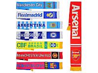Шарф с символикой футбольного клуба 8 видов MS 0809