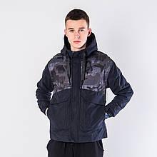 Чоловіча демісезонна куртка темно-синього кольору