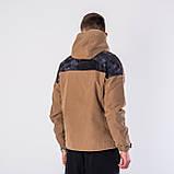 Мужская демисезонная куртка, коричневого цвета, фото 2