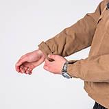 Мужская демисезонная куртка, коричневого цвета, фото 8