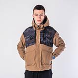 Мужская демисезонная куртка, коричневого цвета, фото 3