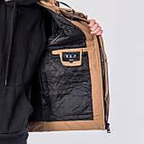 Мужская демисезонная куртка, коричневого цвета, фото 9