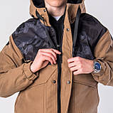 Мужская демисезонная куртка, коричневого цвета, фото 5