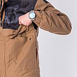 Мужская демисезонная куртка, коричневого цвета, фото 7