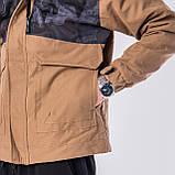 Мужская демисезонная куртка, коричневого цвета, фото 6