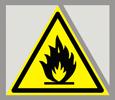 Предупреждающий знак «Огнеопасно. Легковоспламеняющиеся вещества»