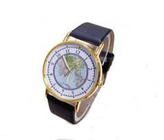Кварцові наручні годинники Geography Black