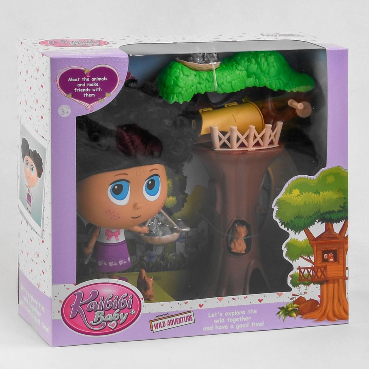 Лялька з аксесуарами BLD 326 дерево, 5 вихованців. Лялька для дівчаток
