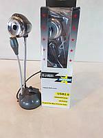 Web-камера  USB2.0  гибкая на присоске с микрофоном