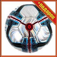 Мяч футбольный №5, серебристый,Профессиональный мяч для футбола,Футбольный мяч для асфальта,Мини футбольный