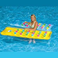 Матрац плавальний надувний 59894NP18-Pocket Suntanner Lounge Intex. Упаковка 12 штук
