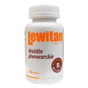 Lewitan Натуральные Пивные Дрожжи 500 мг 200 таблеток