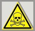 Предупреждающий знак «Опасно. Ядовитые вещества».