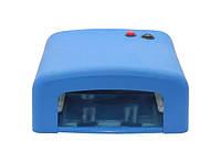 УФ лампа для манікюру ZH-818 36 Вт Синя