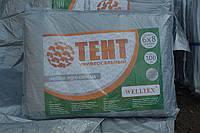 Тент тарпаулин(плотность 100г/м2) 6х8 с металлическими люверсами (серый) защита от солнца, ветра и дождя, фото 1