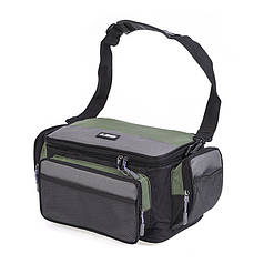 Рыбацкая сумка LEO 27993 Green-Grey для рыболовных снастей катушек органайзер 42*26*17 см