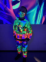 Детский светящийся 3D костюм Minecraft + маска в подарок, фото 1