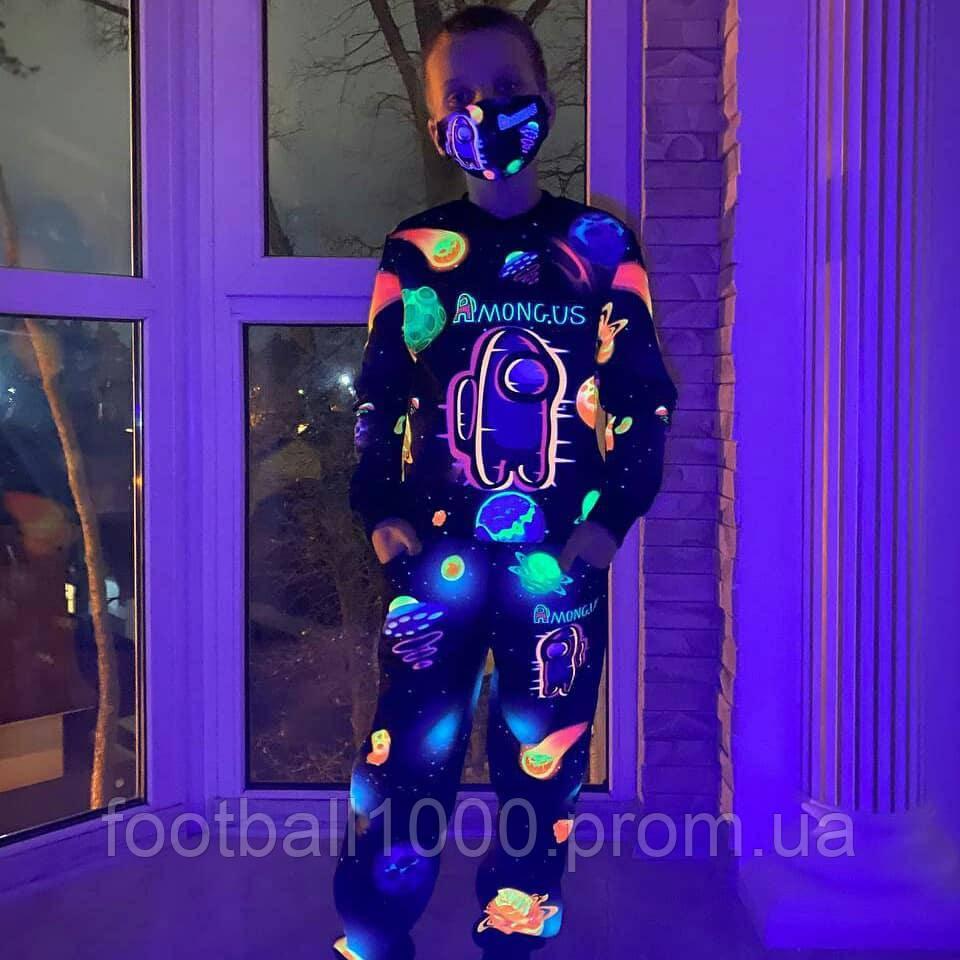 Дитячий світиться 3D костюм Among Us Планети