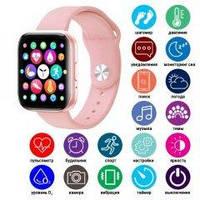 Розовые Женские Стильные современные Смарт часы Т900 в стиле Apple Watch 5. Т900 Smart watch t900 Bluetooth