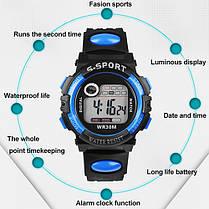 Спортивные электронные наручные часы с секундомером, будильником и подсветкой S-Sport Red (∅40 мм), фото 3