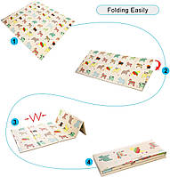 Дитячий розкладний килимок Folding baby mat 180*150