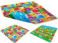 Дитячий розвиваючий килимок Limpopo Сонячний день і Підводний світ/Двосторонній/ Розмір 120*180