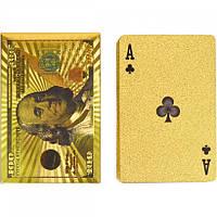 """Гральні карти """"Долар"""" 14-100 золоті 54 шт"""