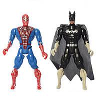Фігурки супергероїв 663A-2-B-2 музичні (Бетмен і Людина-павук)