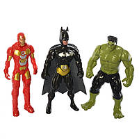Фігурки для гри 899-31/32/33K (Бетмен, Халк і Залізна Людина)