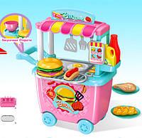 Ігровий набір кухар в кафе фастфуд для дітей в контейнері - візку HAPPY CHEF