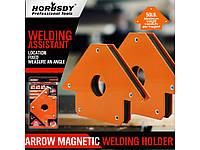 Струбцина магнитная для сварки 22,5 кг (сварочный магнит) HORUSDY