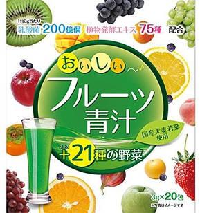 Yuwa Аодзиру з молочнокислими бактеріями, ферментами , смак фруктовий , 20 стіків