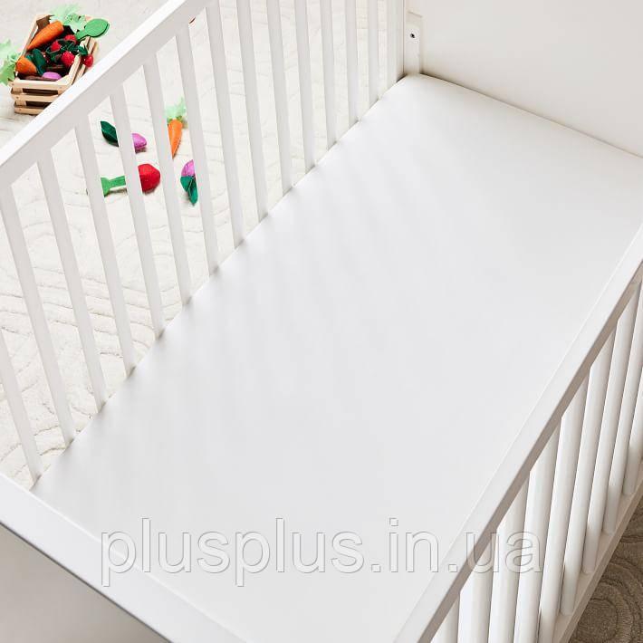 Простынь на резинке в детскую кроватку 80х160х12 см бязь TT161420-pr-80160