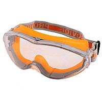 Очки защитные для респиратора (линза не потеющая ПК стекло, антицарапина) .