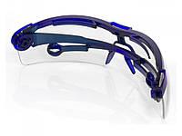 Очки прозрачные поворотные удлинённые дужки.