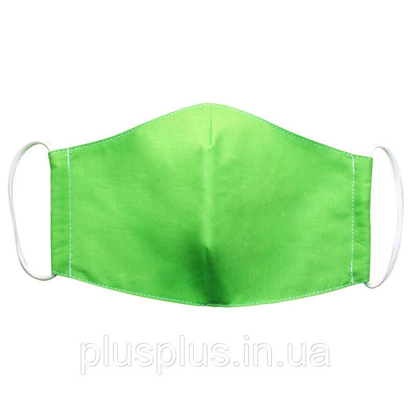 Маска защитная многоразовая Time Textile Зеленая M027