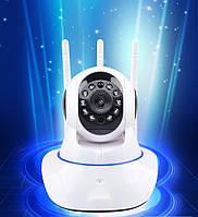 IP-камера 3 антенны поворотная Wi Fi видеонаблюдения,ночная съемка,видеоняня