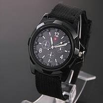 Мужские кварцевые наручные часы  Military Black, фото 2