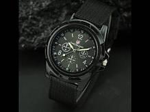 Мужские кварцевые наручные часы  Military Black, фото 3