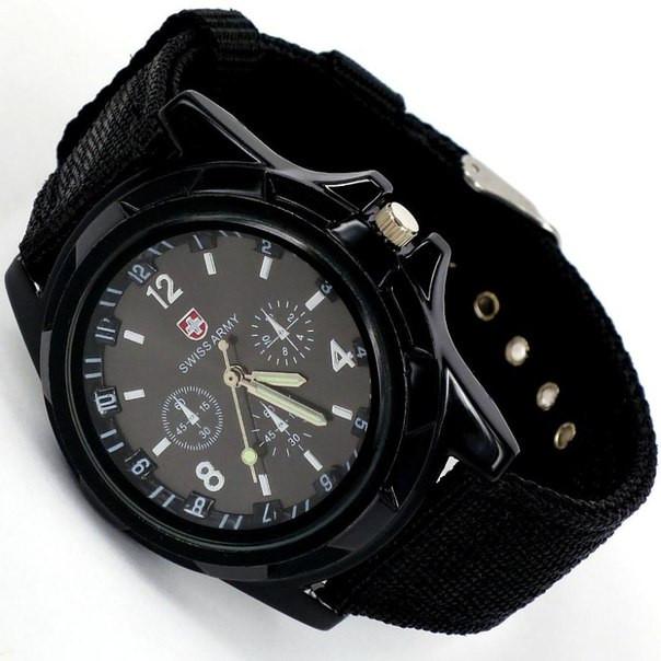 Мужские кварцевые наручные часы  Military Black