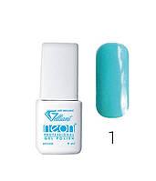 Трехфазный гель - лак Neon Collection Velena Gelliant 9 мл №001 Неоновый голубой