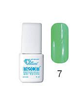 Трехфазный гель - лак Neon Collection Velena Gelliant 9 мл №007 Ультразеленый