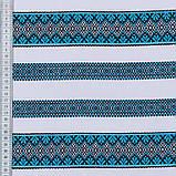 Скатертина вишита блакитна TT94495 150x180, фото 4