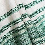 Скатертина вишита зелена льон TT119403 90x150, фото 2